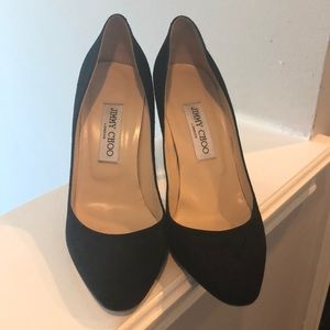 Jimmy Chok Black Suede heels